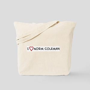 I Love Norm Coleman  Tote Bag