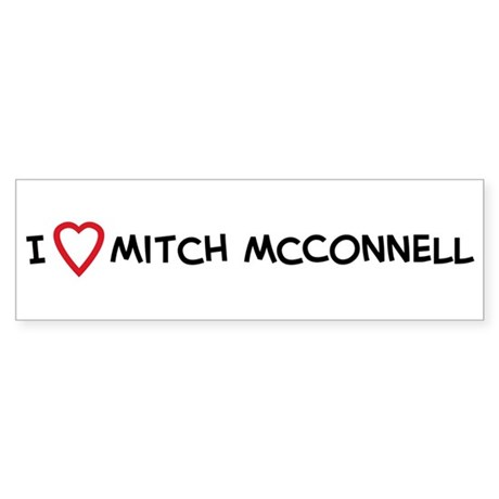 I Love Mitch McConnell Bumper Sticker