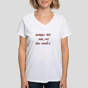 Zombie 101-Women's V-Neck T-Shirt