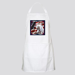 Chinese Crested USA Flag BBQ Apron
