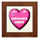 I Love My Appaloosa Horse Framed Tile