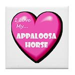 I Love My Appaloosa Horse Tile Coaster