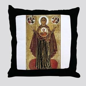 Holy Mary, Mother of God Throw Pillow