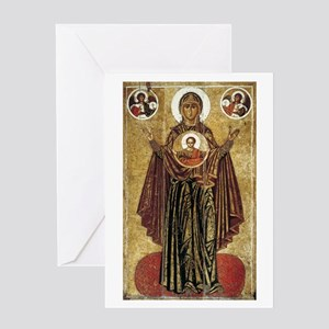 Orthodox christian greeting cards cafepress holy mary mother of god greeting card m4hsunfo