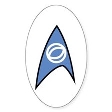 Star Trek TOS Sciences Badge Sticker (Oval)