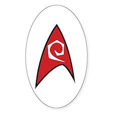 Star Trek TOS Engineer Badge Sticker (Oval)