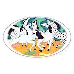 Appaloosa Horse Dance Oval Sticker