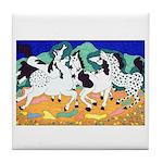 Appaloosa Horse Dance Tile Coaster
