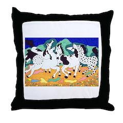 Appaloosa Horse Dance Throw Pillow