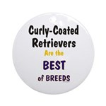 Curly-Coated Retriever Best Ornament (Round)
