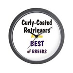 Curly-Coated Retriever Best Wall Clock
