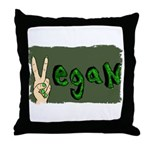 Vegan Beast Throw Pillow