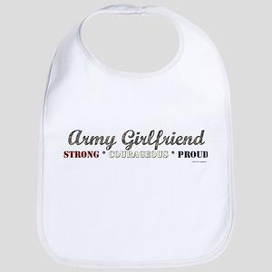 Army Girlfriend:Strong Courag Bib