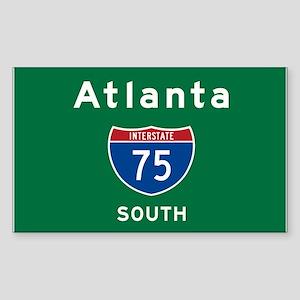 Atlanta 75 Sticker (Rectangle)