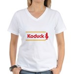 WTD: Koduck Women's V-Neck T-Shirt
