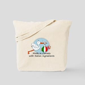 Stork Baby Italy Canada Tote Bag