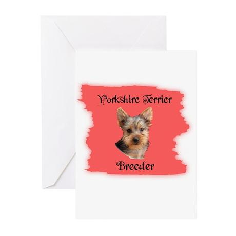 YORKSHIRE TERRIER BREEDER Greeting Cards (Package