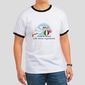 Stork Baby Italy Brazil Ringer T