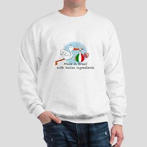 Stork Baby Italy Brazil Sweatshirt