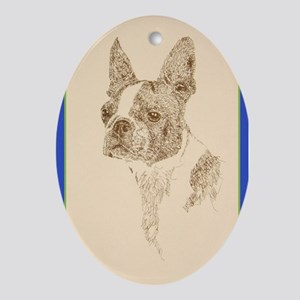 Boston Terrier Ornament (Oval)
