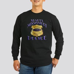 Sparta Police Chief Long Sleeve Dark T-Shirt