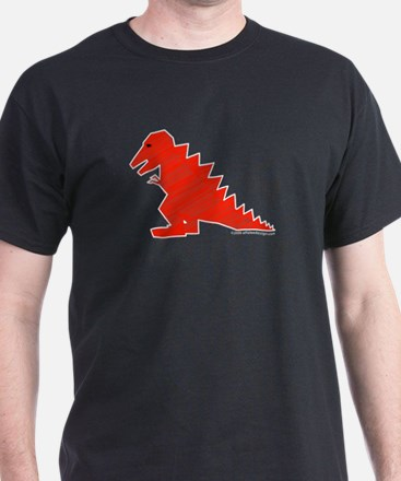 When Tyranosaurus Ruled! Black T-Shirt
