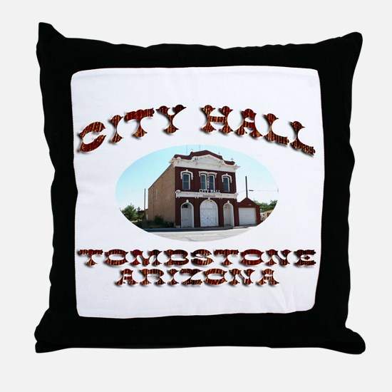 Tombstone City Hall Throw Pillow