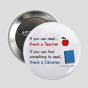 "Teacher...Librarian 2.25"" Button"