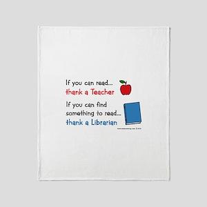 Teacher...Librarian Throw Blanket