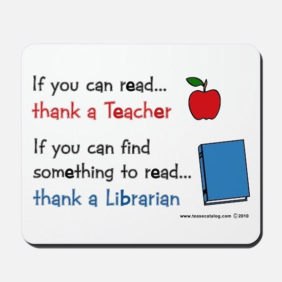 Teacher...Librarian Mousepad