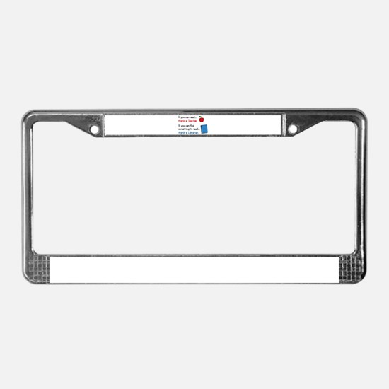 Teacher...Librarian License Plate Frame