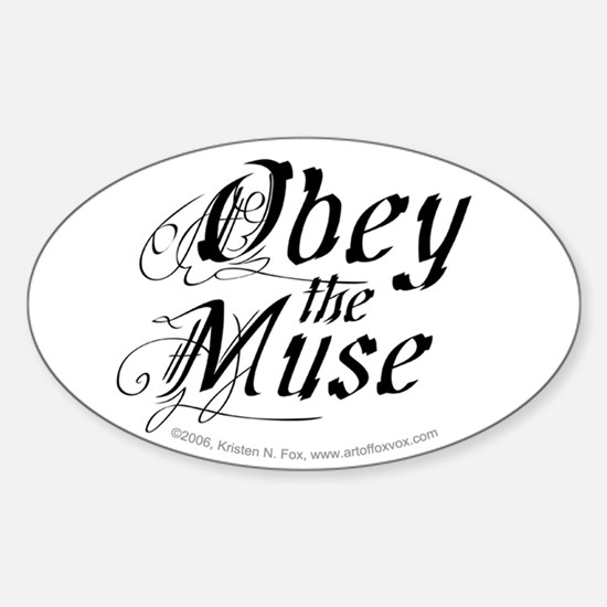 Obey the Muse Oval Decal