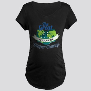 Great Cloth Diaper Change Maternity Dark T-Shirt