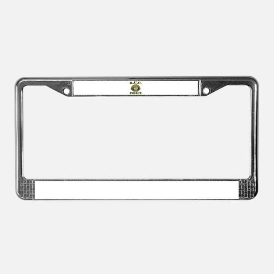 Riverside College Police License Plate Frame