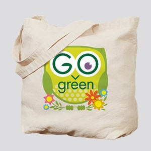 Go Green Owl Tote Bag