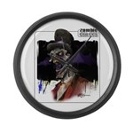 Zombie Circus Large Wall Clock
