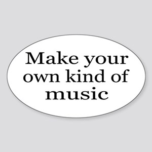 Make Your Own Music Sticker (Oval)