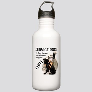 Service Dogs Ruff Stainless Water Bottle 1.0L