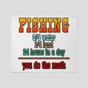 Fishing, You Do The Math Throw Blanket