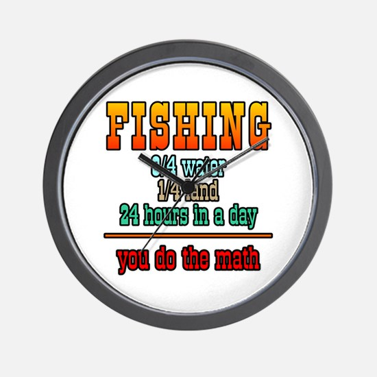 Fishing, You Do The Math Wall Clock