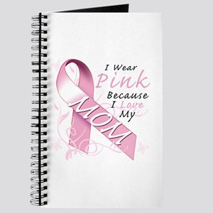I Wear Pink Because I Love My Mom Journal