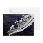 USS CHARLES F. ADAMS Greeting Card