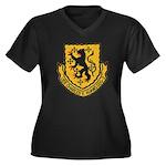 USS CHARLES Women's Plus Size V-Neck Dark T-Shirt