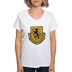 USS CHARLES F. ADAMS Women's V-Neck T-Shirt