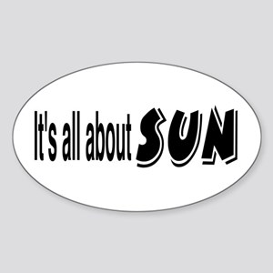 All About Sun Sticker (Oval)