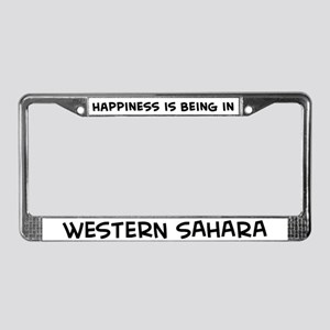 Happiness is Western Sahara License Plate Frame