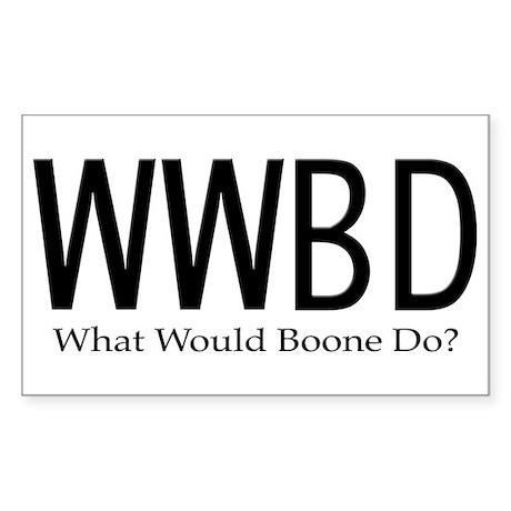 What Would Boone Do Sticker (Rectangular)