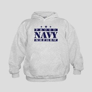 Proud Navy Nephew Kids Hoodie