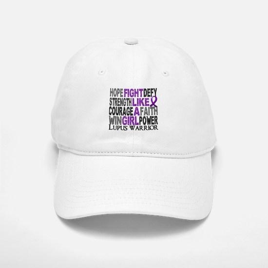 Licensed Fight Like A Girl 23.4 Lupus Baseball Baseball Cap