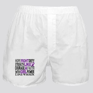 Licensed Fight Like A Girl 23.4 Lupus Boxer Shorts